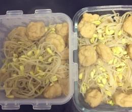 黄豆芽炒油豆腐果