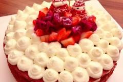红曲素圣诞裸蛋糕