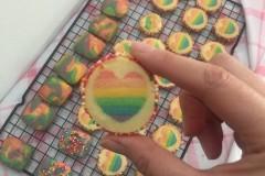 一次成功的彩虹饼干