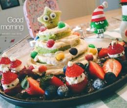 圣诞季:菠菜戚风圣诞树