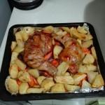 烤鸡腿土豆