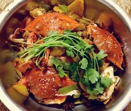 干锅梭子蟹