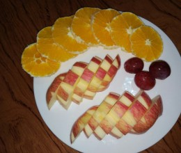 水果拼盘之花式苹果