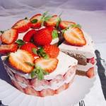 草莓乳酪慕斯~巧克力蛋糕夹层