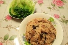 花菇猪腿肉焖饭