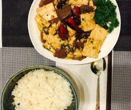 辣烧双色豆腐
