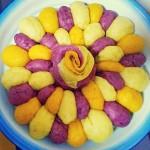 三色氣球花朵發糕
