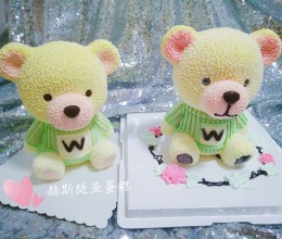 3D立体小熊蛋糕