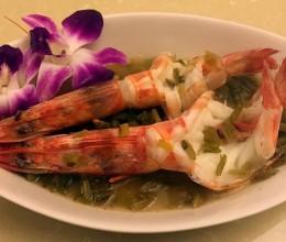 雪菜蒸对虾