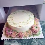 豆沙裱花蛋糕