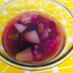 紫薯啤梨汤圆糖水