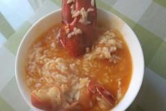 番茄龙虾泡饭