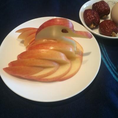 天鹅苹果(水果拼盘)