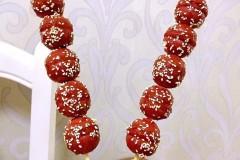 春节应景:红曲米蛋糕做的糖葫芦