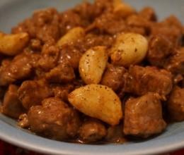 蒜子牛肉粒