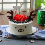圣诞驯鹿蛋糕