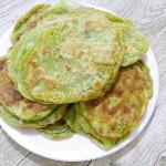 菠菜汁版绿色春饼(煎与蒸)