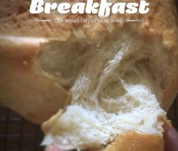 面包机版北海道吐司,消灭淡奶油