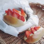 草莓卡仕达乳酪包