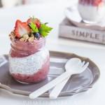 莓果奇亚籽酸奶布丁. Berries Chia Pudding Parfait.