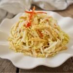 白菜芯拌油豆腐丝
