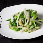 虾皮大白菜(内附大白菜的正确切法)