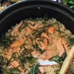 砂锅黄油三文鱼饭