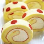 紅曲波點蛋糕卷--給新年的蛋糕加點喜慶