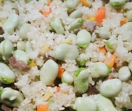 干巴蚕豆焖饭