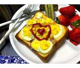 鸡蛋培根烤吐司