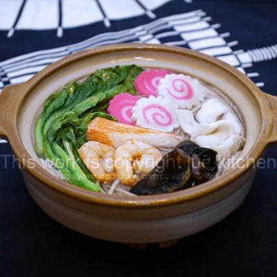 砂鍋海鮮蕎麥面