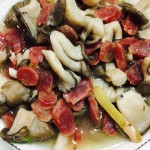 臘腸炒姬菇
