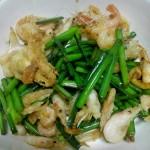 韭菜苔炒鲜虾