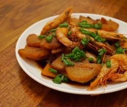 油焖土豆大虾—[机智的便当菜]