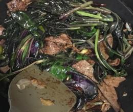 紫背天葵糖醋炒猪肝