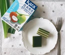斑兰椰汁千层糕(木薯粉)