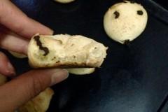 不用预拌粉的巧克力豆麻薯包