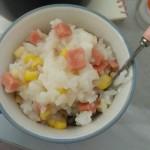 玉米火腿肠粥