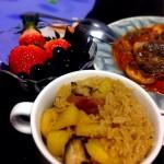 电饭锅版香菇土豆腊肠饭