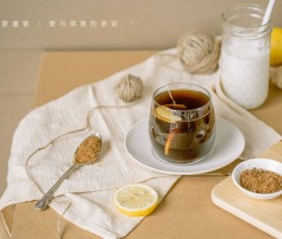 红糖姜片红茶