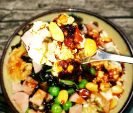 什锦豆腐脑(白醋点豆腐)