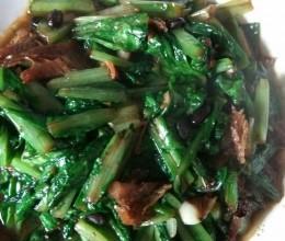 豆豉淋鱼油麦菜