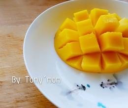 如何切芒果花