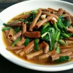 韭菜炒海腸