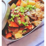 腊肠土豆焖饭