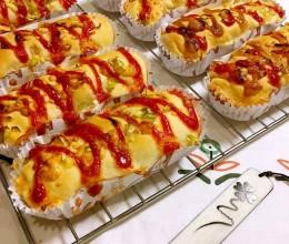 波兰种香葱培根芝士早餐包