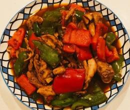 青菜椒炖鸡腿