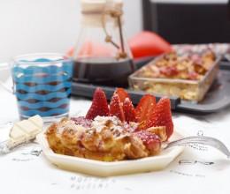 草莓面包布丁