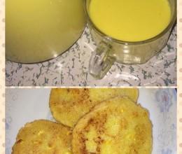 新鲜玉米汁+新鲜玉米渣饼(新鲜玉米饼)