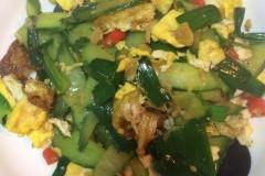 黄瓜炒荷包蛋